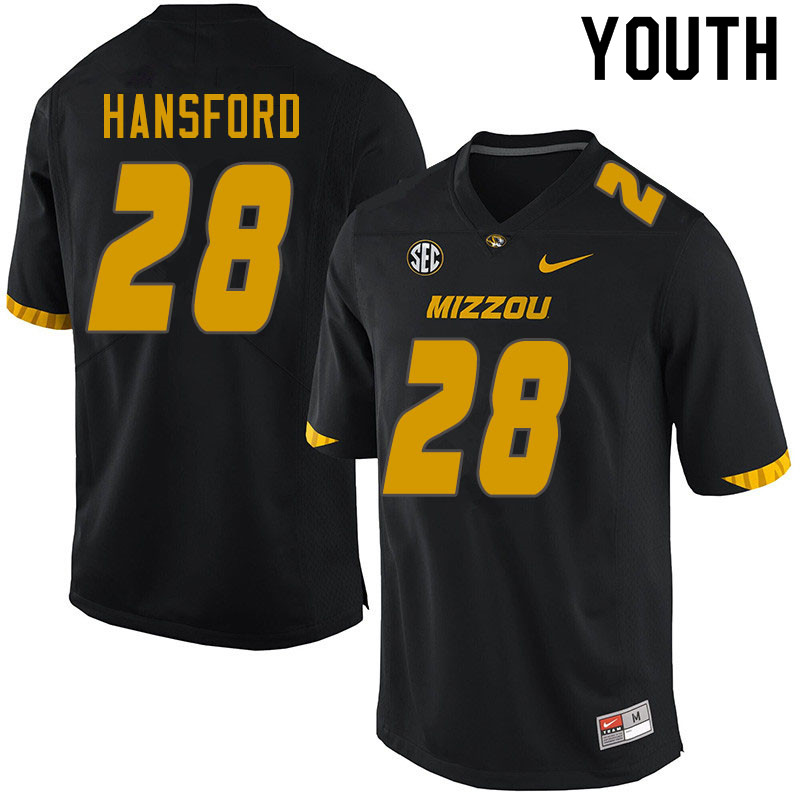 Youth #28 Jatorian Hansford Missouri Tigers College Football Jerseys Sale-Black